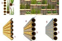 dikey bambu bahçe