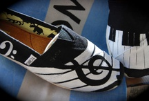 Shoes - music / Shoes with musical theme