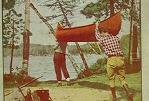 Vintage Canoe Art in Ads