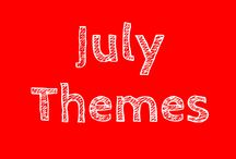 July Themes / THEMES: Camping, Insects and butterflies, The beach and Summer activities.