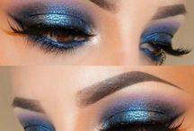 makijaż niebieski