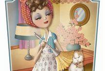 Ilustraciones mujer Parisina