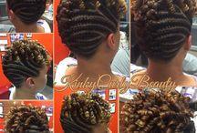 flat twist hairdos