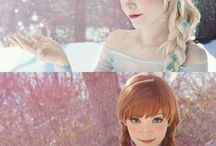 Elsa Anna cosplay