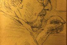 my work Dutch anarchist arguing about freedom #drawing #sketch #moulindelageneste #france #summer #shocking_art
