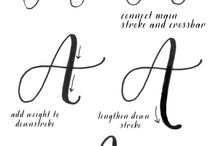 Hand Lettering/Calligraphy - Beautiful and relaxing technique for anyone or any occasion / Calligraphy, hand lettering, flourishes from beginner to the most experienced.