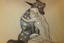 волк и девушка (Chiara Bautista)