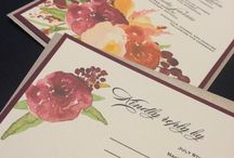 DIY Printable wedding invitations / For any DIY lovers planning a party!  Check out our printable designs available in our Etsy store!