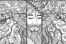 zentangle inspire art by Jenny Luan / the zentangle inspire art done my me :)