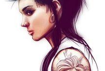 chika dragon tatuado