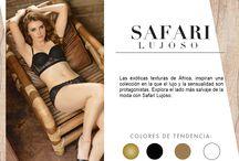Safari Lujoso / Las exóticas texturas de África, inspiran una colección en la que el lujo y la sensualidad son protagonistas. Explora el lado más salvaje de la moda con Safari Lujoso.