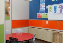 Formica AR+ Solid Colours - Waimairi School, Christchurch / A flexible quiet learning space to support and facilitate effective learning outcomes for children ranging in age from 6 to 9 years old. Design by Thinkspace Interiors Ltd – Melanie Bloom & Nina Baillie. Construction by Angus Ceilings Ltd
