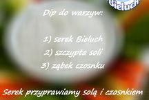 Nowe przepisy: carbonara i dip / Pyszna Carbonara z Bieluchem - zachęcamy do wypróbowania! A do tego idealny do warzyw dip!