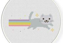 Котики, вышивка