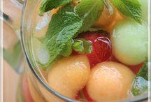 Boisson pétillante aux billes de melon