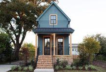 Small tiny shotgun house
