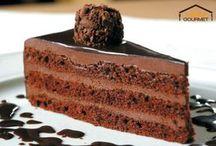 Einfache schokoladenkuchen