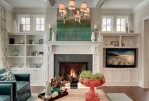 Family Rooms Fit with Fireplaces & Built-ins