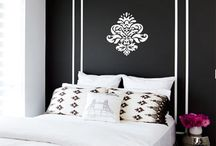 Black and while Bedroom