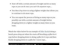 Muscle Building Training and Tips / Muscle Building Tips and Training from Pinterest