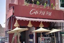Café Kif Kif Marrakech / About rooftop in marrakech, Food restaurant drinks Green Tea. Terrasse Café Thé vert
