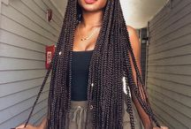 Box Braids Obesession. / African Hair.