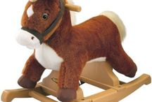 Rocking Horse For Babies / Lots of baby rocking horses are more decorative than functional. When my wife and I bought a rocking horse for our 6 month old son we wanted something that looked great but also would work well as a baby friendly toy. We found a really great small, plush, rocking horse based on a wooden frame. It had sound and music and was perfect for our son to start using (with our assistance at 9 months). I wanted to start cataloging other good baby rocking horses here for when the next baby comes along.