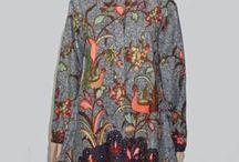 Baju Batik Wanita, Batik Tunik 1342 / Jual baju batik wanita modern model baju batik tunik terbaru 2017 cocok digunakan untuk berhijab.