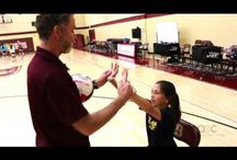 Chair Drill Setting the Volleyball