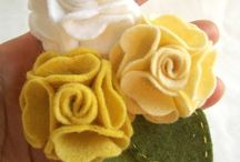 brooch flower fabric