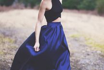 How to style: navy a-line skirt