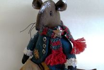 Christmas mice / Unique handcrafted dressed mice!