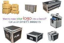 Flight cases and luggage stencils / Personalise your luggage and cases with our stencils. Great for musicians, photographers and anyone who travels with expensive equipment.