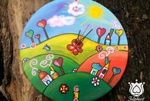 Painted Wall clocks by Tulipheart