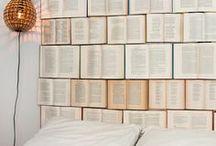 books headboard.