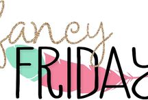 Fancy Friday Blog Hop / A monthly hop on the last Friday of each month!  Different inspiration for each month!