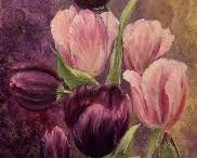 maleri av blomster