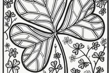 ST PATRICK - COLORING PAGES