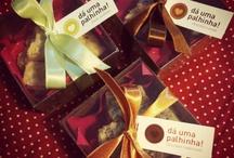 Hommade chocolates artesanais / Homemade chocolates + crafting. Good ideas!