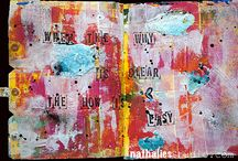 art journalling and mixed media