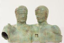 Igor Mitoraj / Polish artist Igor Mitoraj created figurative sculptures using terracotta, bronze and marble, referencing classical sculpture.