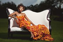Photo Shoots / Clothing made entirely out of flowers.