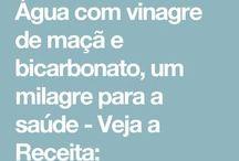 vinagre e bicarbonato