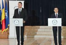 Declarații de presă cu ocazia Bilanțului pe anul 2014 / Preşedintele României, domnul Klaus Iohannis și Directorul Serviciului Român de Informaţii, domnul Eduard Hellvig, au făcut declarații de presă la sediul SRI.