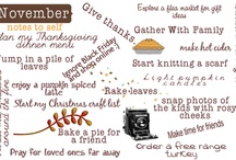 Thanksgiving / by Ginger @ GingerSnapCrafts.com