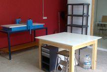 Working / Fotos sobre nuestros primeros muestrarios, ideas, hornadas, pruebas, encargos, ferias...