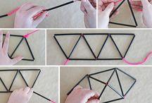 origami avec paille