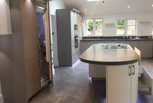 Stylish Contemporary Kitchen with Large Island. CDA Appliances. / A used, approximately 5 year old contemporary kitchen by Commodore Kitchens (www.commodorekitchens.co.uk ). The kitchen is in superb condition having received very limited usage. Some appliances look completely unused. Worktops are 100mm thick laminate with in-built sink. There's a wealth of furniture included and it's kitted out with top of the range CDA appliances.