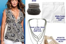 Summer Vacation Fashion Lookbook / Ideas for pairing outfits with accessories when on your summer vacation