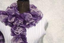 Style / New style ruffle hand-knit scarves / by designbyelena